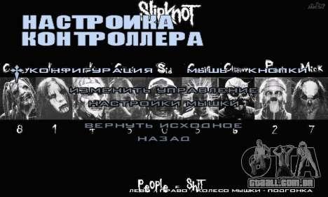 Metal Menu - Slipknot para GTA San Andreas quinto tela