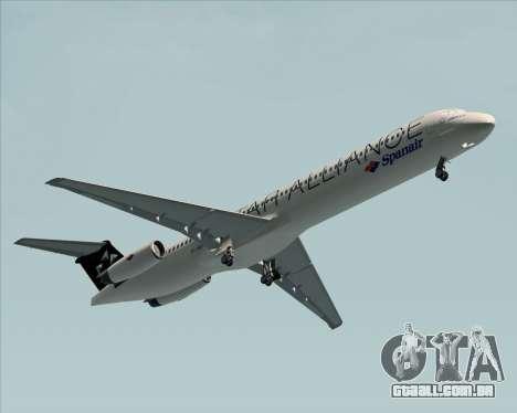 McDonnell Douglas MD-82 Spanair para GTA San Andreas traseira esquerda vista