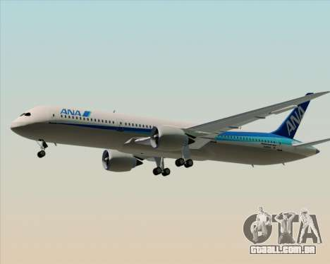 Boeing 787-9 All Nippon Airways para GTA San Andreas vista inferior