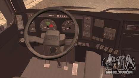 MAZ 6430 para GTA San Andreas traseira esquerda vista