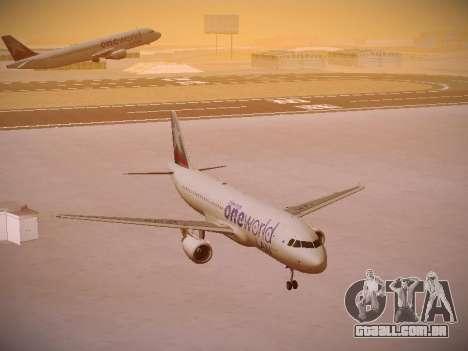 Airbus A320-214 LAN Oneworld para GTA San Andreas vista traseira