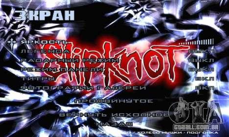 Metal Menu - Slipknot para GTA San Andreas sétima tela