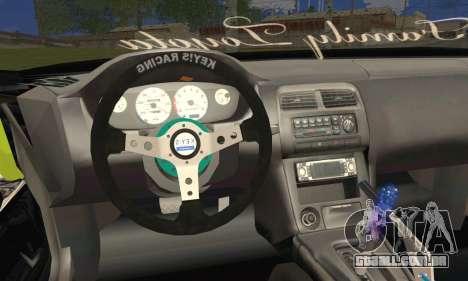 Toyota Chaser Drift 2JZ-GTE para GTA San Andreas traseira esquerda vista
