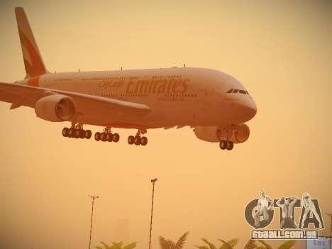 Airbus A380-800 Emirates para GTA San Andreas