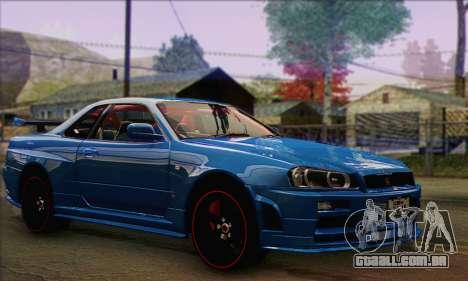 Nissan Skyline GTR34 para GTA San Andreas