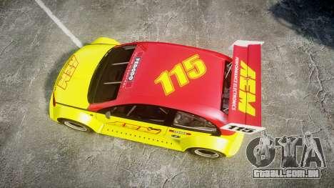 Zenden Cup AEM para GTA 4 vista direita