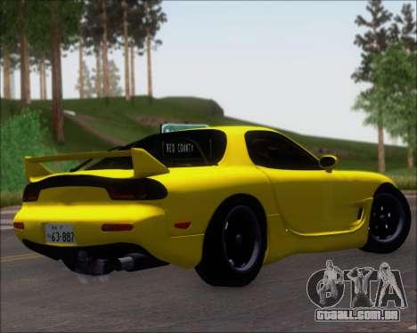 Mazda RX-7 FD3S A-Spec para GTA San Andreas vista direita