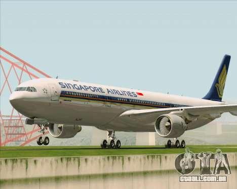 Airbus A330-300 Singapore Airlines para GTA San Andreas traseira esquerda vista