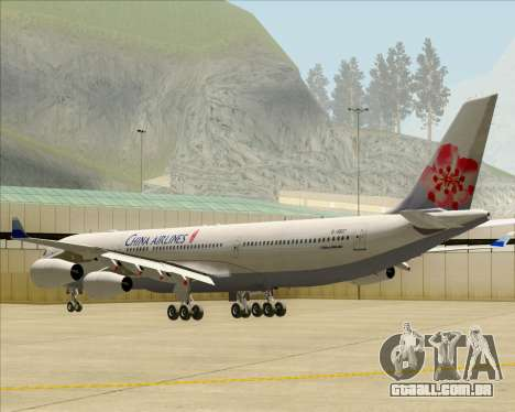 Airbus A340-313 China Airlines para GTA San Andreas vista direita
