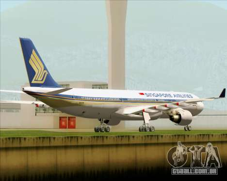 Airbus A330-300 Singapore Airlines para GTA San Andreas vista direita