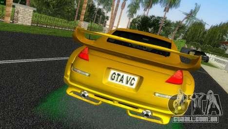 Nissan 350Z Veiside Chipatsu para GTA Vice City vista traseira esquerda