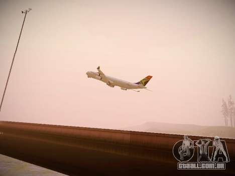 Airbus A340-300 South African Airways para GTA San Andreas vista interior