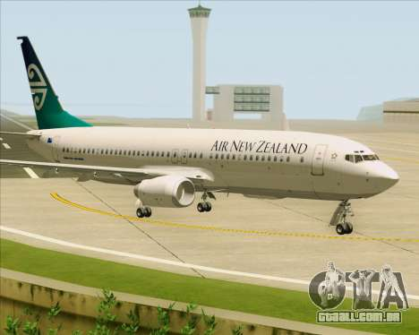 Boeing 737-800 Air New Zealand para GTA San Andreas esquerda vista