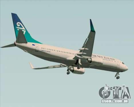 Boeing 737-800 Air New Zealand para GTA San Andreas vista interior