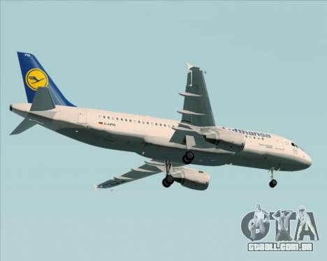 Airbus A320-211 Lufthansa para GTA San Andreas vista superior