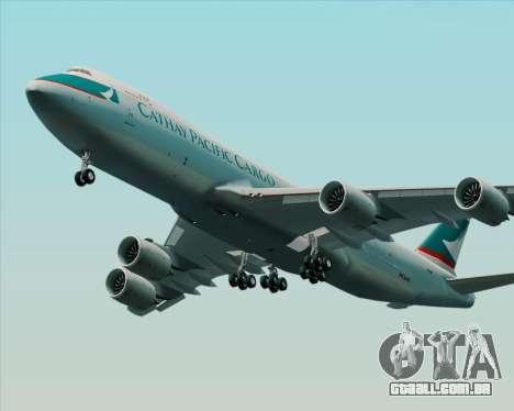 Boeing 747-8 Cargo Cathay Pacific Cargo para GTA San Andreas traseira esquerda vista