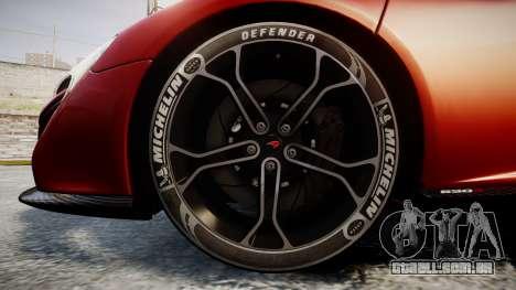 McLaren 650S Spider 2014 [EPM] Michelin v2 para GTA 4 vista de volta