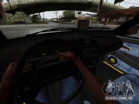 VAZ 2114 TMK afterburner para GTA San Andreas vista interior