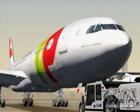 Airbus A340-312 TAP Portugal para GTA San Andreas vista interior