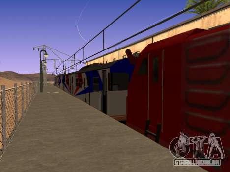 Indonésia trem de diesel MCW 302 para GTA San Andreas esquerda vista