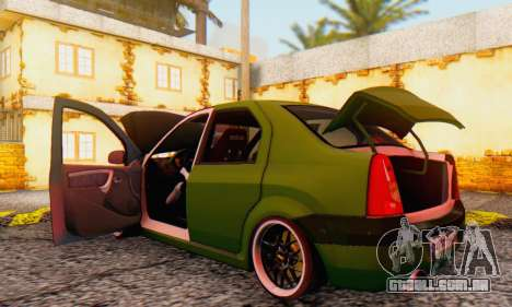 Dacia Logan MOR para GTA San Andreas vista interior