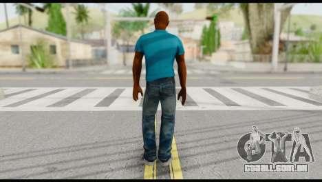Blue Shirt Vic para GTA San Andreas segunda tela