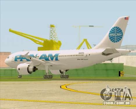 Airbus A310-324 Pan American World Airways para GTA San Andreas vista direita