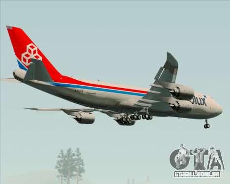 Boeing 747-8 Cargo Cargolux para o motor de GTA San Andreas