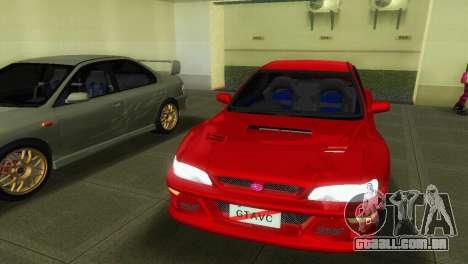 Subaru Impreza WRX STI GC8 22B para GTA Vice City vista direita