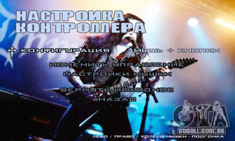 Metal Menu - Immortal (Live) para GTA San Andreas por diante tela
