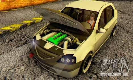 Dacia Logan MOR para GTA San Andreas esquerda vista