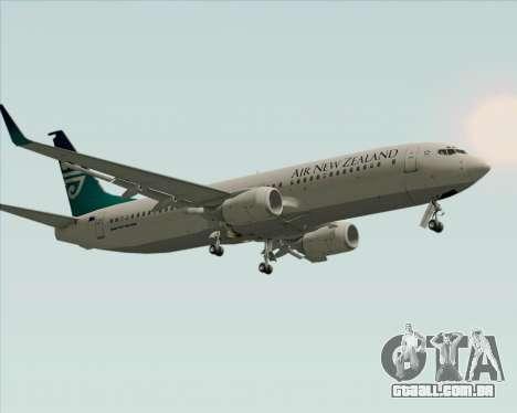 Boeing 737-800 Air New Zealand para GTA San Andreas vista inferior