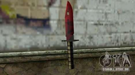 Bayonet M9 para GTA San Andreas segunda tela
