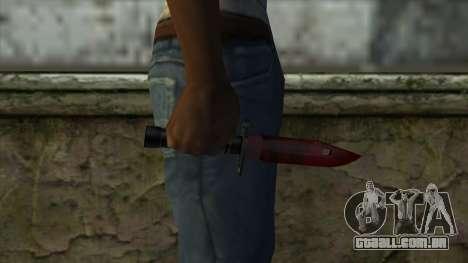 Bayonet M9 para GTA San Andreas terceira tela