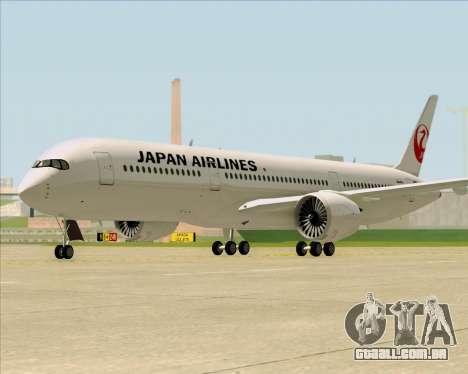 Airbus A350-941 Japan Airlines para GTA San Andreas traseira esquerda vista