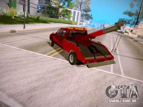Dodge Ram Tow-Truck para GTA San Andreas traseira esquerda vista