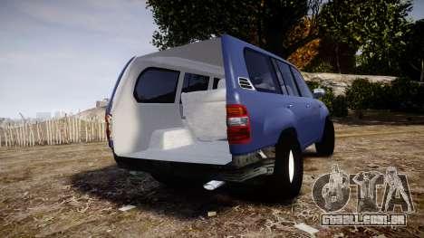 Toyota Land Cruiser para GTA 4 traseira esquerda vista