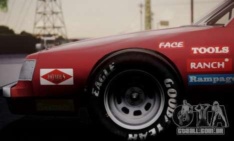 Buick Regal 1983 para GTA San Andreas vista traseira