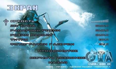 Metal Menu - Immortal (Live) para GTA San Andreas sexta tela