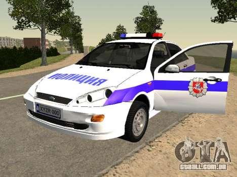 Ford Focus Polícia Nizhny Novgorod região para GTA San Andreas