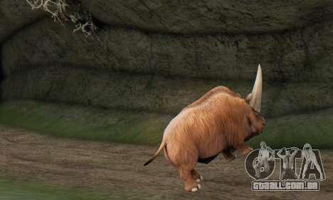 Elasmotherium (Extinct Mammal) para GTA San Andreas por diante tela