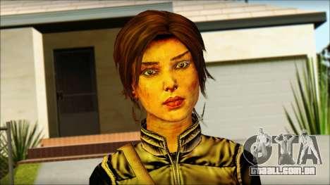 Tomb Raider Skin 1 2013 para GTA San Andreas terceira tela