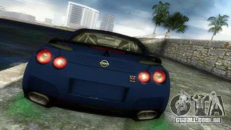 Nissan GT-R SpecV Black Revel para GTA Vice City vista traseira esquerda