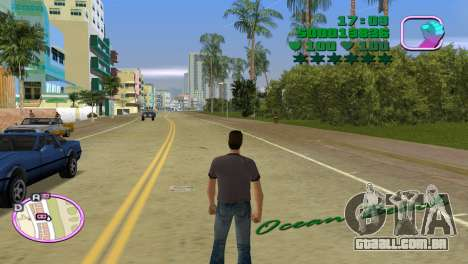 Green Font Color With Logo para GTA Vice City terceira tela