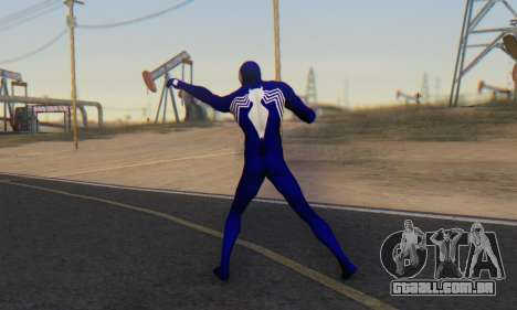 Skin The Amazing Spider Man 2 - Suit Symbiot para GTA San Andreas terceira tela
