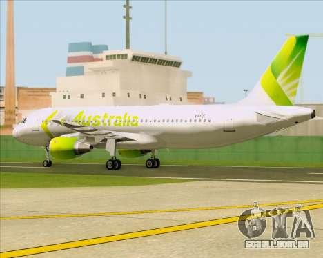 Airbus A320-200 Air Australia para GTA San Andreas vista interior