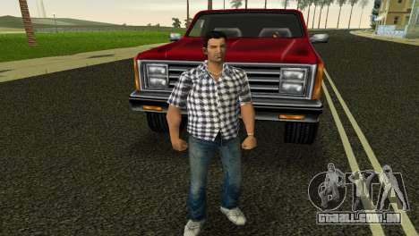 Kockas polo - feher T-Shirt para GTA Vice City