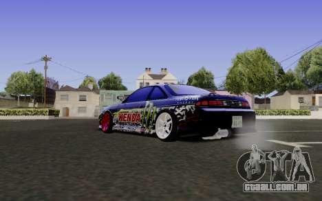 Nissan Silvia S14 Monster Energy para GTA San Andreas esquerda vista