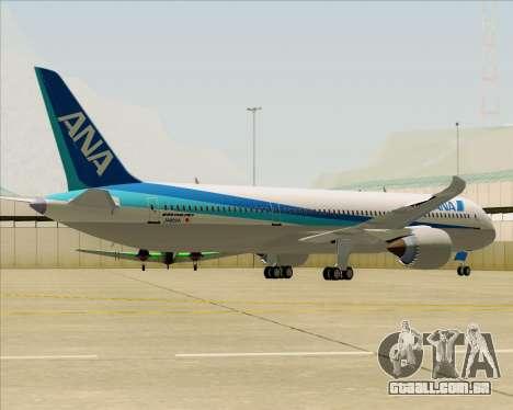 Boeing 787-9 All Nippon Airways para GTA San Andreas vista traseira