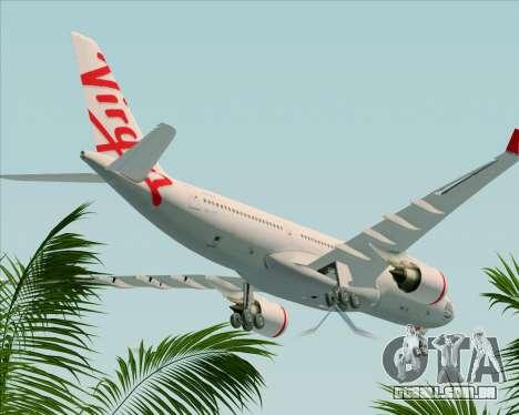 Airbus A330-200 Virgin Australia para GTA San Andreas vista superior